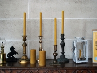 Bougies en cire d'abeille naturelle - Beeswax candles and soaps