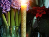 Bougie en cire d'abeille - Hand rolled pure beeswax candles - Lucienne