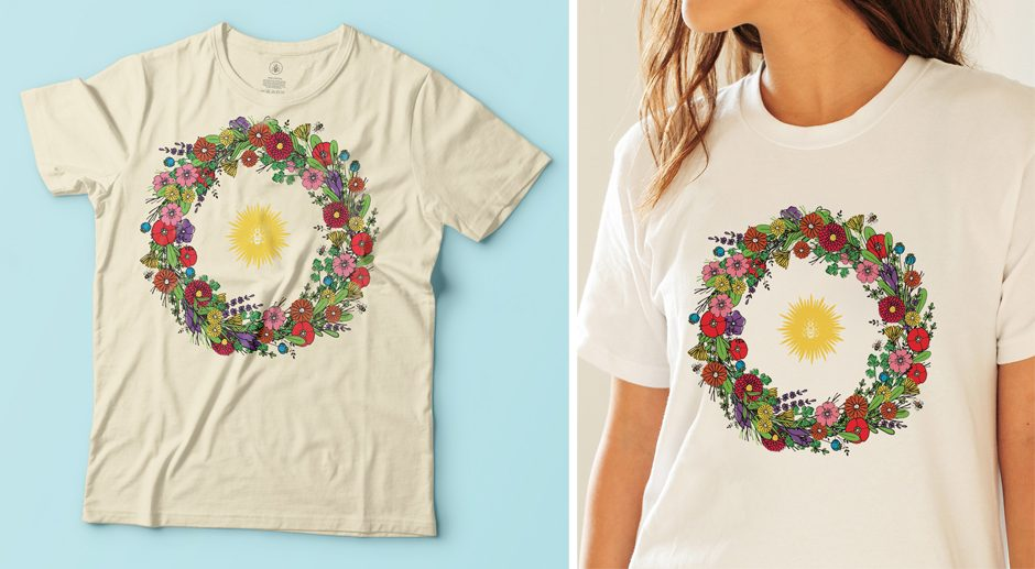 T-shirt Apis Cera tout doux en coton