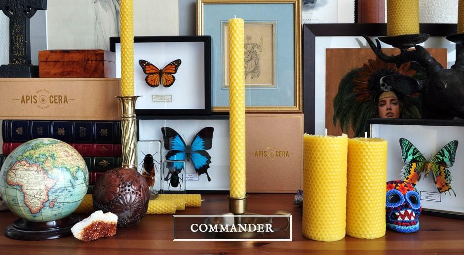Bougie pilier en pure cire d'abeille artisanale