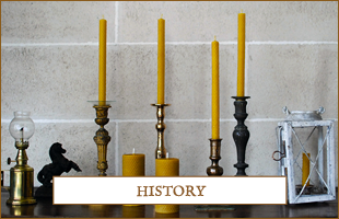 The history of candles by Apis Cera