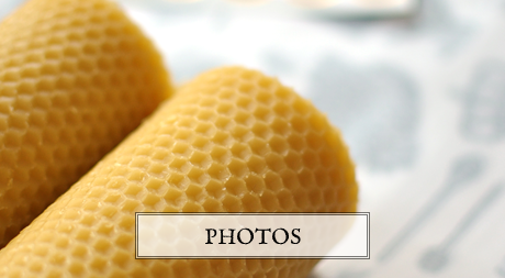 Pure beeswax candles and organic honey soaps