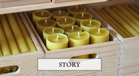 handmade pure beeswax candles and organic honey soaps