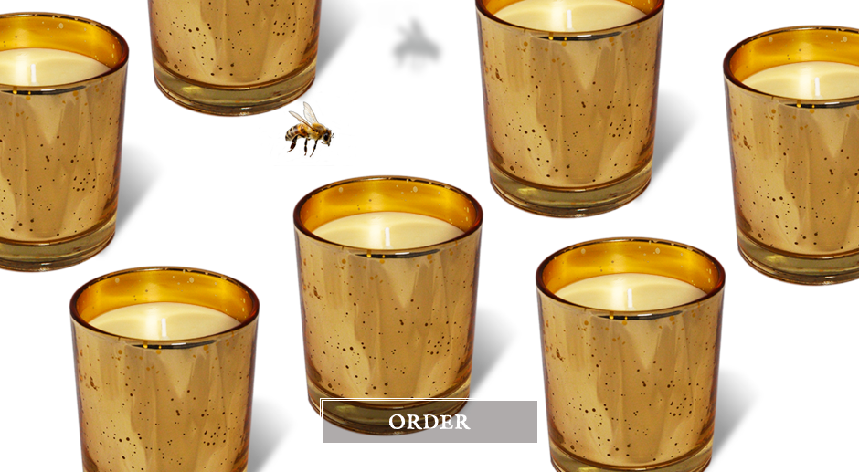 Natural candle Amber and gold – Faustine